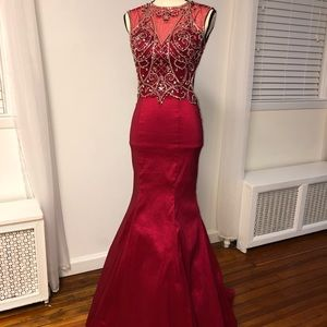 Red Jeweled Dress